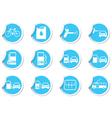 Set of stickers transport BLUE LABEL vector image vector image