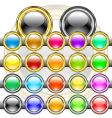 buttons colored vector image vector image