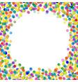 confetti frame vector image