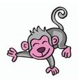 Cute monkey cartoon for t-shirt design vector image