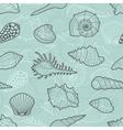Decorative seamless pattern of sea shells vector image
