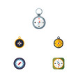 flat icon compass set of orientation direction vector image