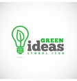 Green Ideas Concept Symbol Icon or Logo Template vector image