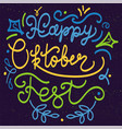 Happy oktoberfest lettering vector image