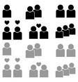 human sociability set black and grey color vector image
