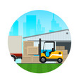 icon transportation and cargo services vector image