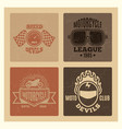 vintage grunge motor club and motorcycle league vector image
