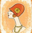 vintage woman fashion vector image