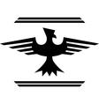 silhouette of fantasy bird vector image