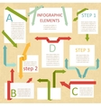 set of paper modules for info-graphick vector image