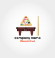 midnight pool - company name vector image
