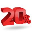 20 percent digits vector image