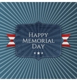 Happy Memorial Day greeting Sign with Ribbon vector image