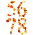 autumn letter vector image