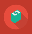 Business Flat Icon Money vector image