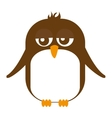 cute penguin animal tender isolated icon vector image