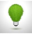 Green creative lightbulb isolated vector image
