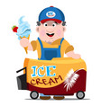 ice cream seller professions color cartoon vector image