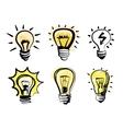 light bulbs icon vector image