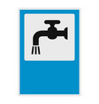 open water tap icon flat style vector image