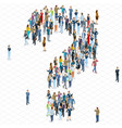 people crowd question mark template vector image