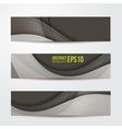 set of abstract banners gray three background vector image