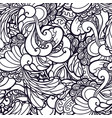 swirl abstract floral pattern fabric vector image