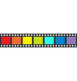 Rainbow flag Film strip frame Straight shape vector image