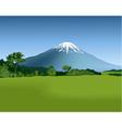 Mountain landscape vector image vector image