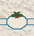Retro greeting card with holly berry vector image vector image
