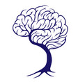 tree brain vector image vector image