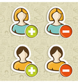 Social media user people icons set vector image