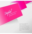 Color folded paper vector image
