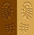 shoe imprints mud sand vector image