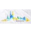 Silhouette watercolor Barcelona vector image