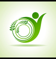 Eco people celebration icon with leaf design vector image vector image