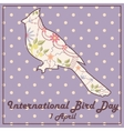 Bird day with cardinal vintage vector image