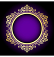 purple and gold frame vector image vector image