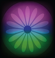 circle lines with flower silhouette inside vector image