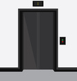 Elevator with closed doors vector image