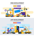 flat design concept banner - apps and web vector image