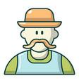 gardener man icon cartoon style vector image