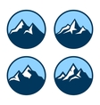 Mountain in Circle Logo Design Elements vector image