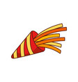 party horn blower celebration festive icon vector image