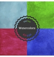 Set of watercolor backgrounds vector image
