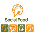 social food and icon set vector image