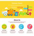 Summer Travel Flat Web Design Template vector image