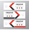 Red and black corporate business banner template vector image