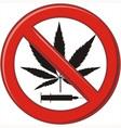 Warning prohibiting drug vector image