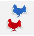 realistic design element chicken vector image